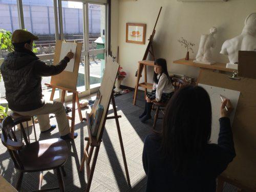 絵の教室 楠々社 おえかき部の様子