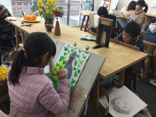 絵の教室 楠々社 教室の様子